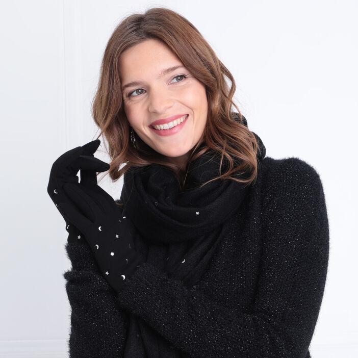 Lot écharpe et gants noir femme