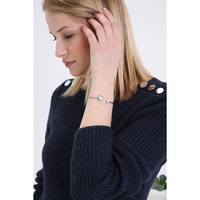 Bracelet métal effet marbré couleur argent femme