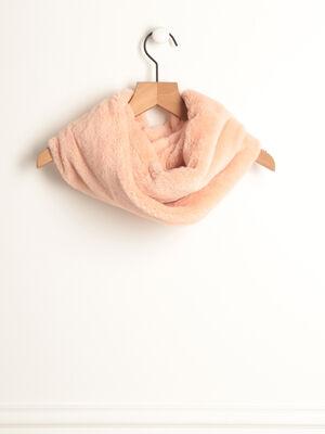 charpe tour de cou rose clair femme