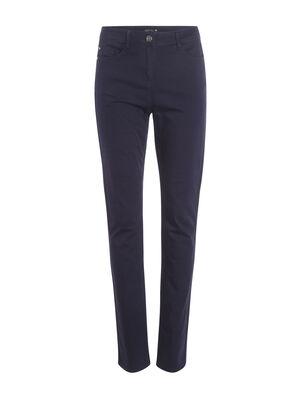 Pantalon push up taille haute bleu fonce femme