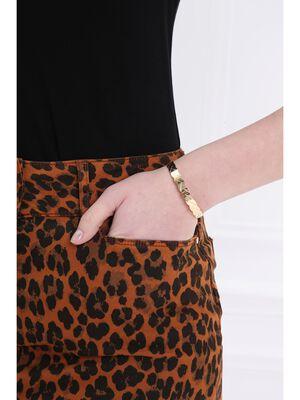 Bracelet jonc metal tresse couleur or femme