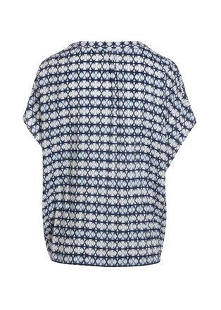 Chemise manches 34 imprime blanc femme