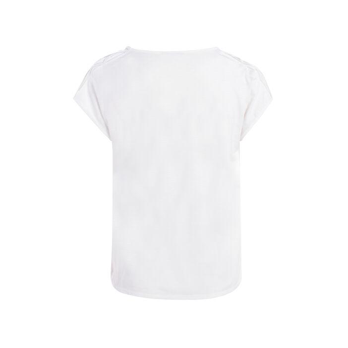 T-shirt manches courtes imprimé ecru femme