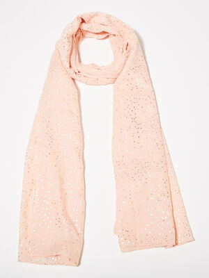 Foulard rose poudree femme