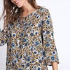 Blouse manches 34 col rond jaune moutarde femme