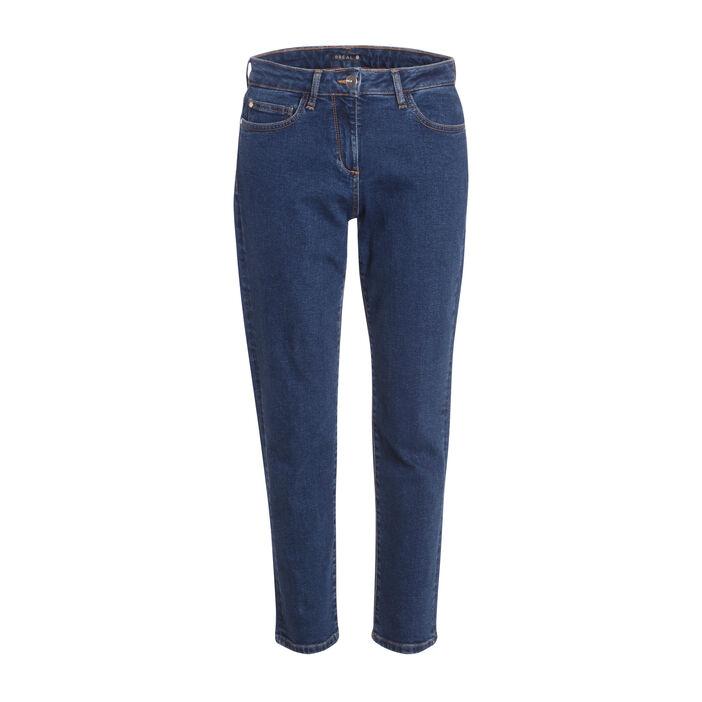 Jeans droit taille standard denim stone femme