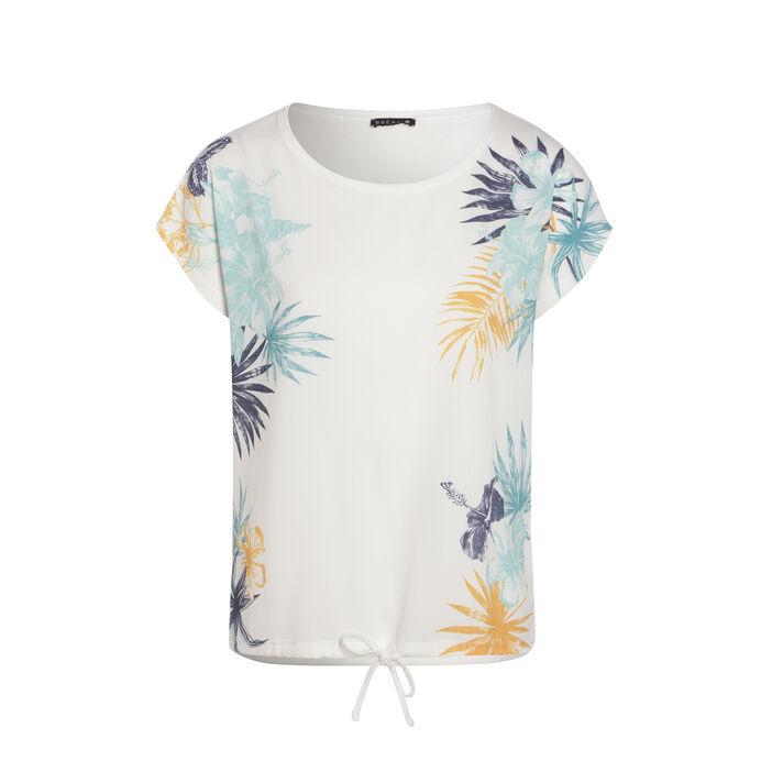 Tee-shirt manche courte bimat ecru femme