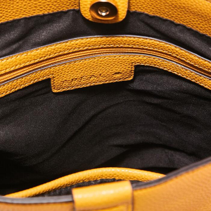 Sac seau porté épaule jaune or femme