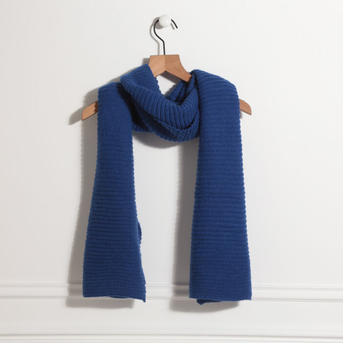 Écharpe bleu roi femme