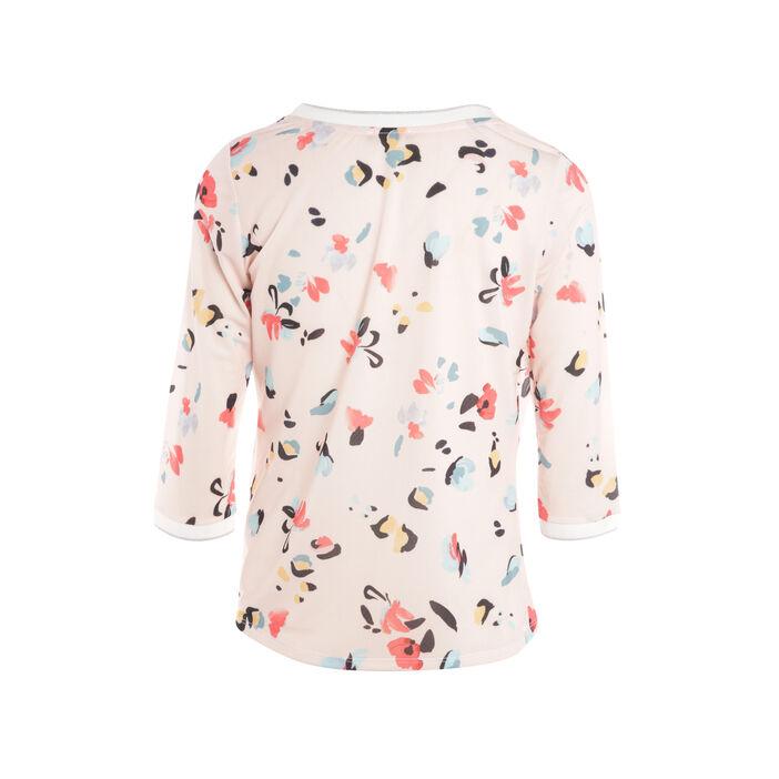 T-shirt manches 3/4 blousant rose saumon femme