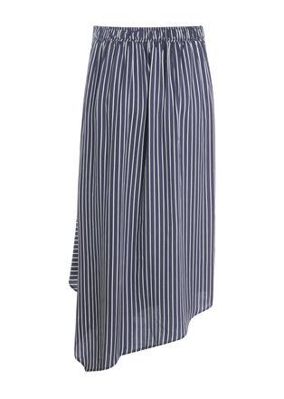 Jupe longue asymetrique noeud bleu marine femme