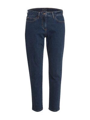 Jeans droit taille basculee denim stone femme