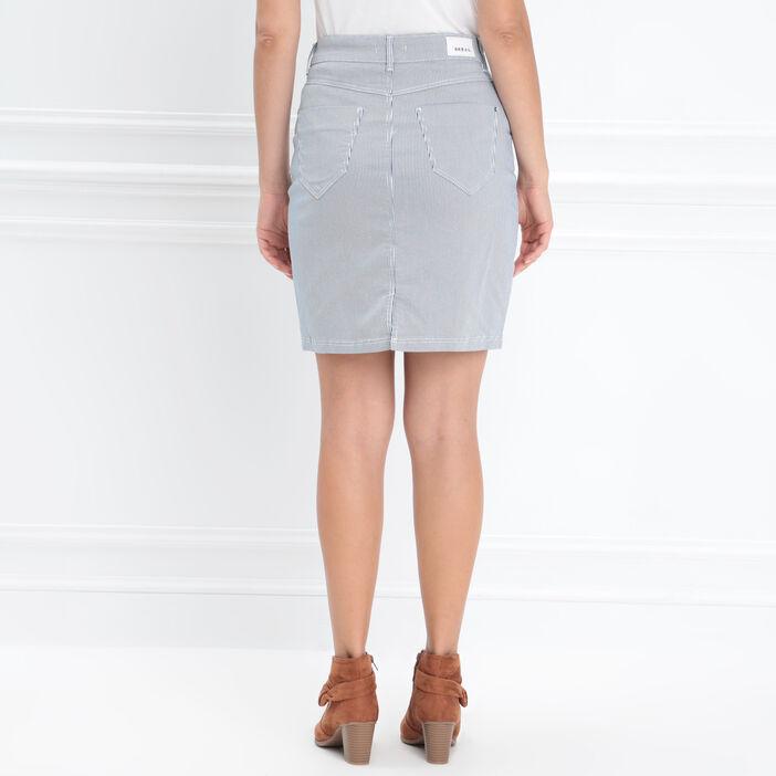 Jupe ajustée poches zippées ecru femme
