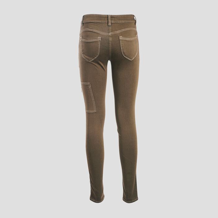 Pantalon 7/8 ème vert kaki femme