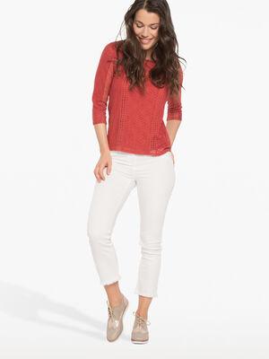 Pantalon 78eme fantaisie ecru femme