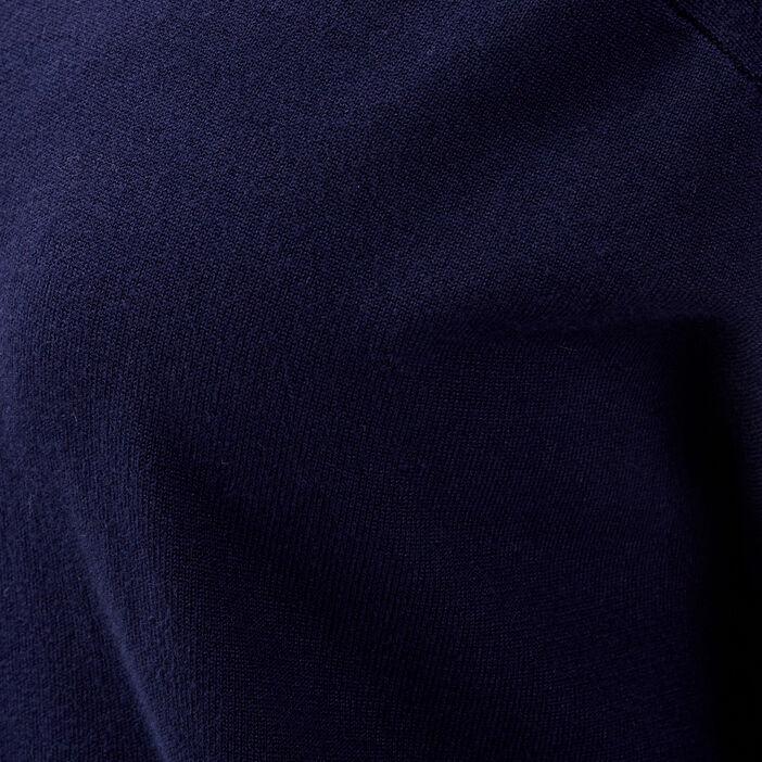 Pull manches longues bleu foncé femme