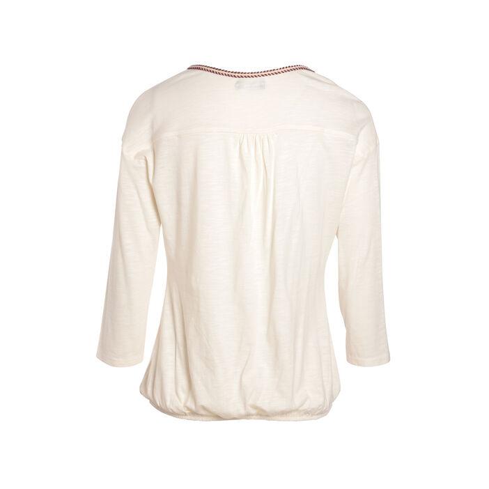 T-shirt manche 3/4 creme femme