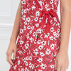 Robe portefeuille a noeud rouge femme