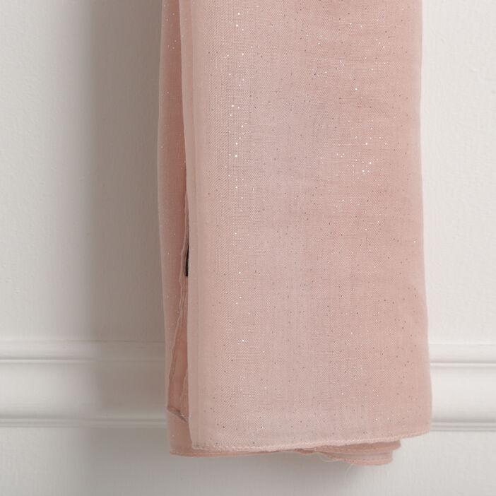 Étole rectangulaire paillettes rose clair femme