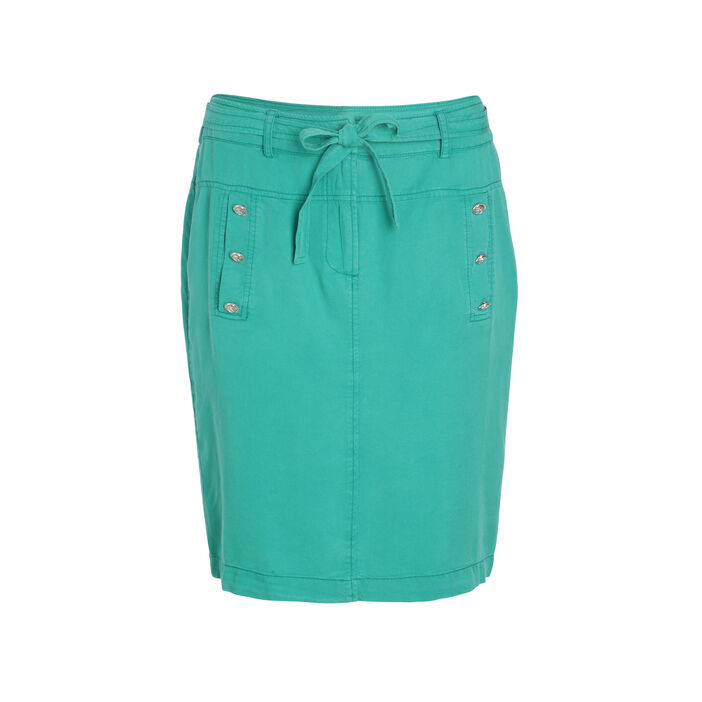 Jupe fluide avec ceinture vert femme