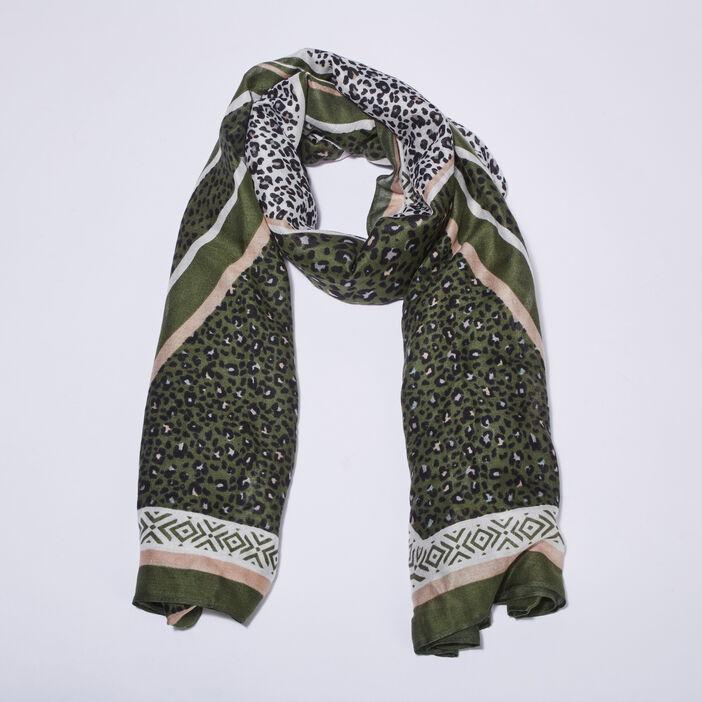 Foulard vert kaki femme