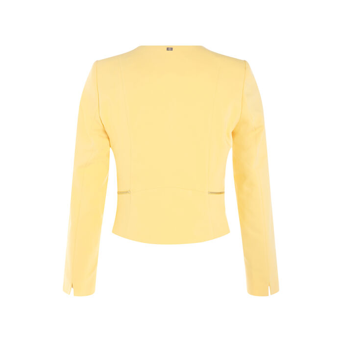 Veste unie à pans ouverts jaune femme