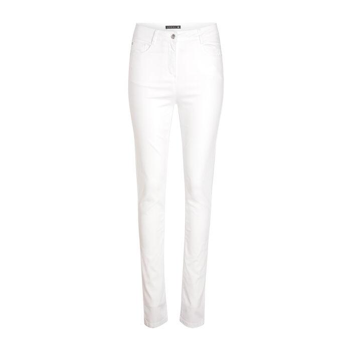 Pantalon ajusté push up blanc femme