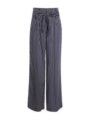 Pantalon fluide bleu fonce femme