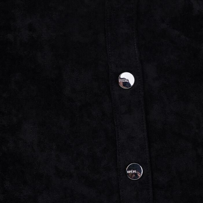 Jupe droite à boutons noir femme