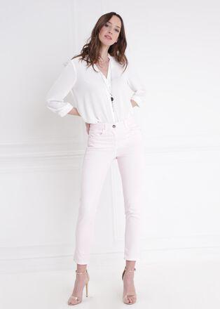 Pantalon taille standard rose poudree femme