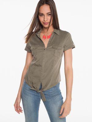 Chemise nouee vert fonce femme