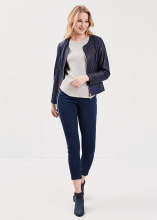 Jeans 78eme taille basculee denim brut femme