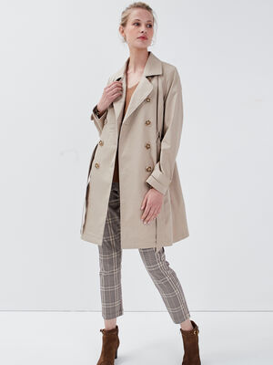 Trench cintre sable femme