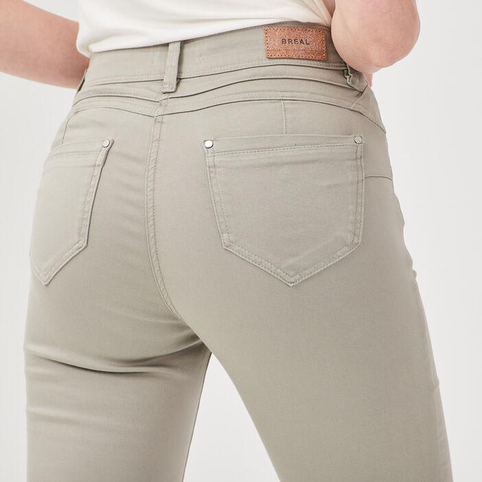 Pantalon ajusté vert clair femme
