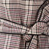 Robe portefeuille boutonnee ecru femme