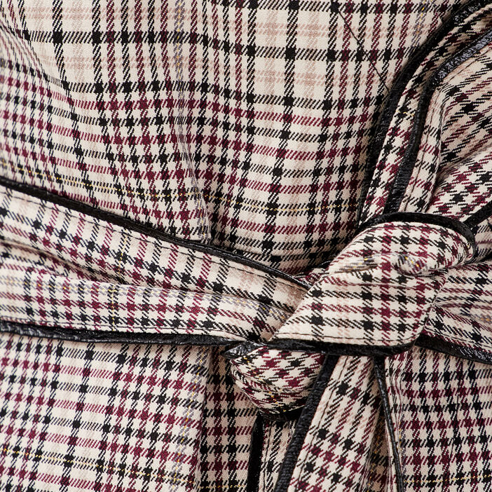 Robe portefeuille boutonnée ecru femme