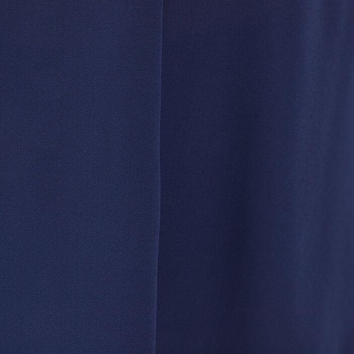 Blouse manches longues bleu marine femme