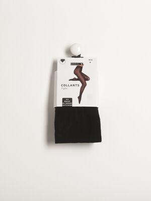 Collants semi transparents 40D noir femme