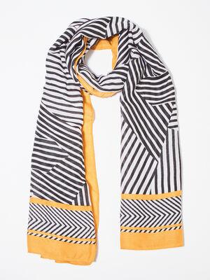 Foulard jaune or femme