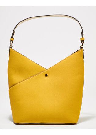 Sac porte epaule jaune femme