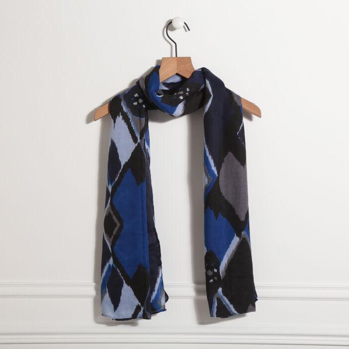 Foulard bleu roi femme