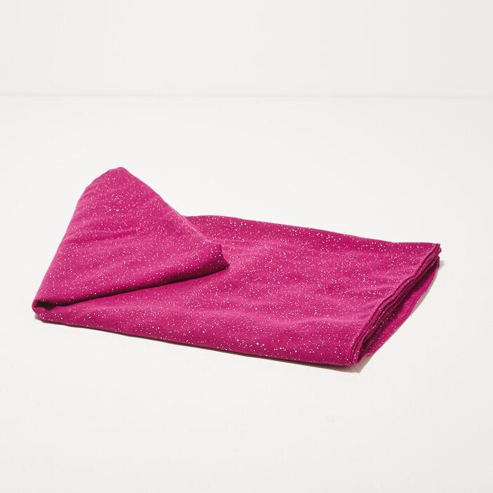 Étole rectangulaire paillettes violet femme