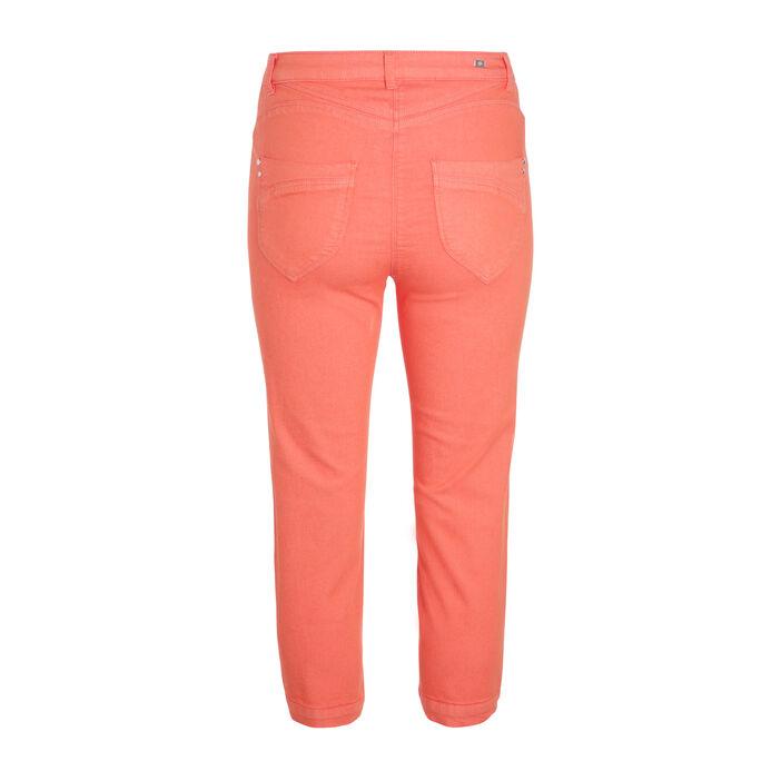 Pantacourt taille standard orange corail femme