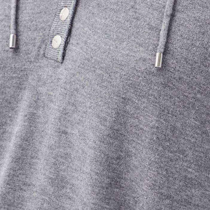 Pull manches longues gris foncé femme