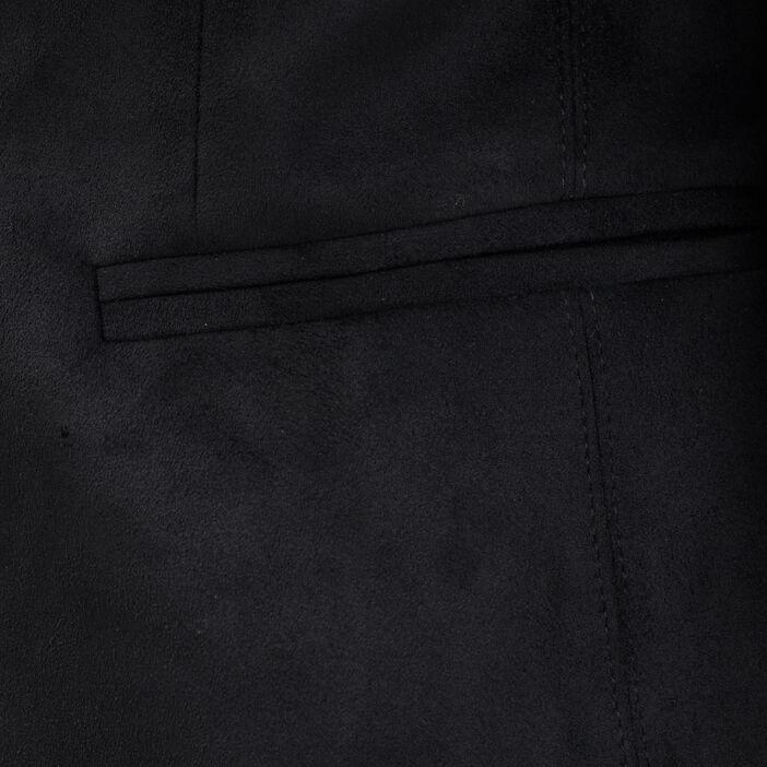 Veste droite esprit tailleur noir femme