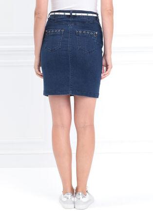 Jupe crayon en jean a broderie denim stone femme