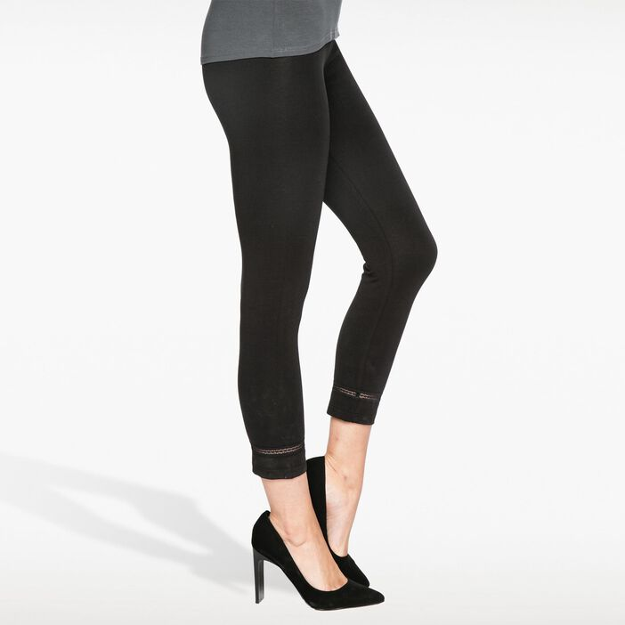 Legging  avec petite bande élastique noir femme