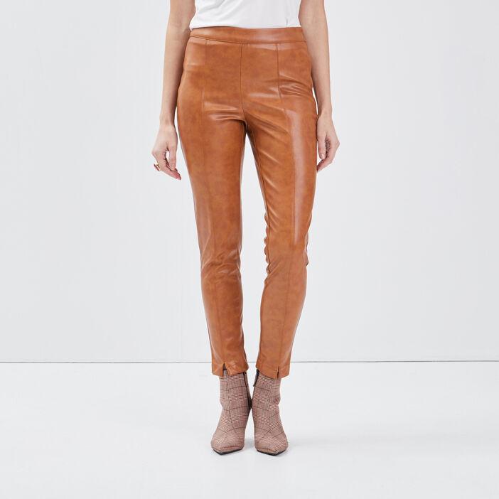 Pantalon tregging rouge foncé femme