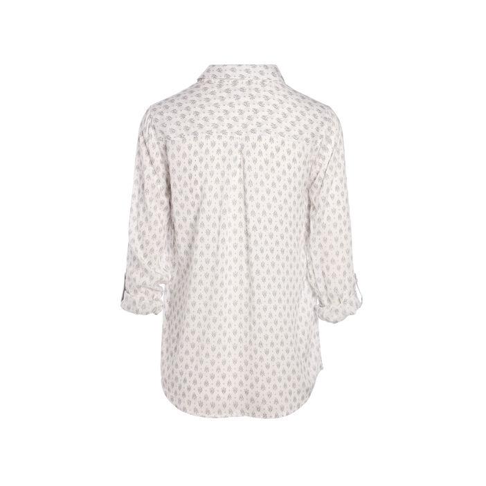 Chemise imprimée base layette blanc femme