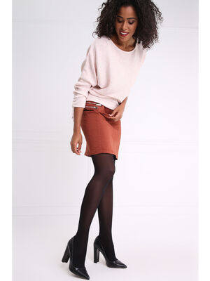 Collants opaques unis noir femme